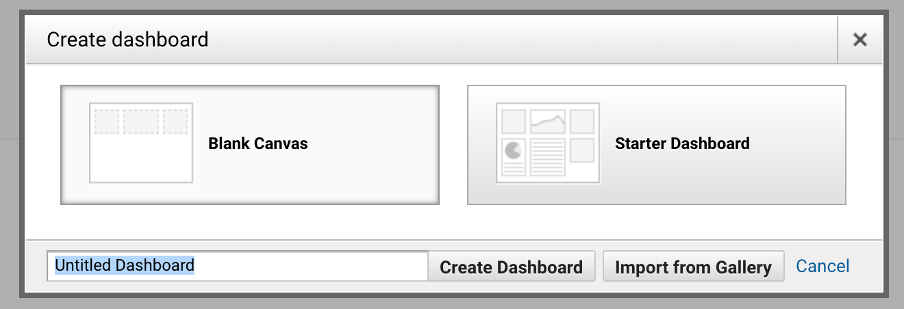 Create dashboard popup screenshot